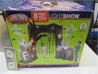 8' GEMMY Halloween Inflatable Lightshow House