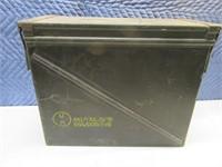 Vintage XL Metal Ammo 18x14x8 Storage Box