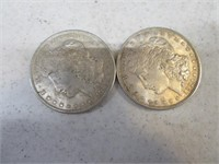 Lot (2) 1921 Silver Morgan Dollars Coins Nice