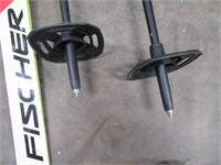 Fisher RCS Racing Skis w/  Matching Poles