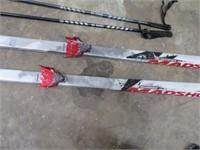 MADSHUS Eon195 Snow Skis NICE w/ poles
