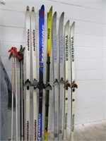 Lot (5) Sets Skis + (2) Sets SWIX Ski Poles