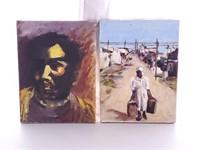 Pair of Original Portrait Paintings