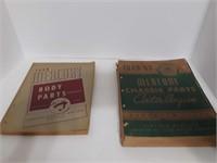 1949/ 1950 MERCURY CHASIS PARTS CATALOGUES