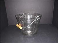AMCDR & HUKIN GLASS ICE BUCKET