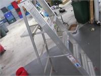 Lot (3) EXC Aluminum Step Ladders 6' & 4'