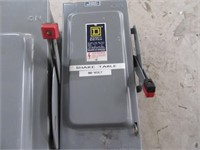 Lot (3) Heavy Duty SQUARE D Electrical Boxes