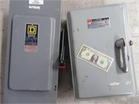 Lot (2) HeavyDuty SQUARE D Electrical Boxes