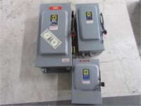 Lot (3) SQUARE D HeavyDuty Electrical Panel Boxes