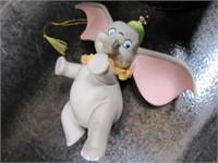 Disney Porcelain DUMBO Ornament + Roll Cloth Ribbn