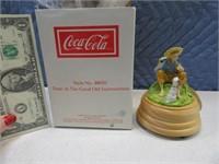 "CocaCola 1990 5"" Boy Music Box"