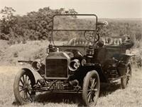 Antique 1914 Ford Car Photograph