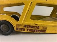 Antique Structo Tin Type Car Hauler