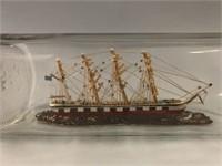 Old Ship in a Bottle Art Piece