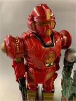 Pair of Retro Toy Fighter Robots