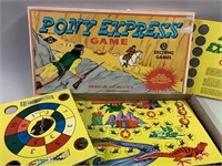 Early TEE PEE Toys Pony Express Board Game