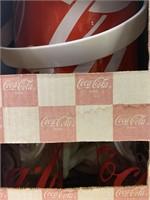 Retro Coca Cola Ice Bucket and Tumbler Set