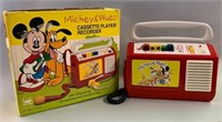 Retro Mickey and Pluto Cassette Player/Recorder