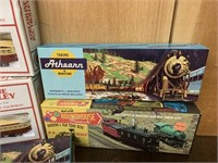 HO Scale Toy Trains in Boxes
