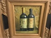 FRAMED CANVAS WINE PRINT