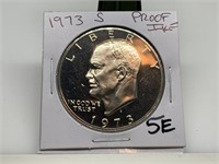 1973-S PROOF IKE DOLLAR COIN