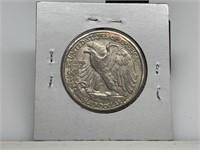 1947-D SILVER WALKING LIBERTY HALF DOLLAR COIN