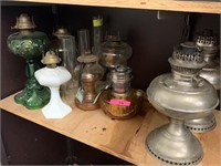 LARGE LOT OF OIL LAMPS