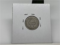 1877 SEATED LIBERTY SILVER DIME COIN