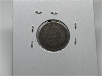 1868 SEATED LIBERTY SILVER DIME COIN