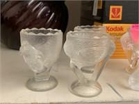 LOT OF VTG GLASS EGG CUPS