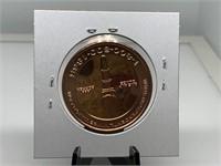 1OZ COPPER BULLION ROUND COIN