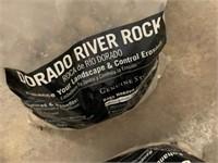 2 BIG BAGS OF RIVER ROCKS