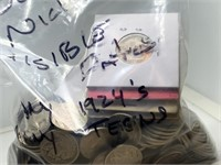 LARGE BAG OF VISIBLE DATE 289 BUFFALO NICKELS