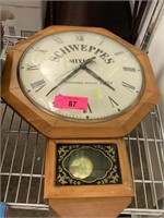 VTG SCHWEPPES MIXERS WALL CLOCK WORKS
