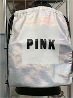 PINK DRAW STRING BAG / HANGING MANNEQUIN