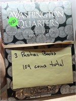 109 STATE QUARTERS IN ALBUMS