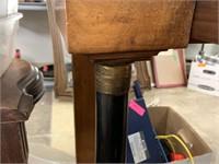 VTG ITALIAN EBONY COLUMNAR ACCENT TABLE W DRAWER
