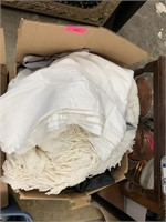 LARGE LOT OF LINENS / BLANKETS MORE