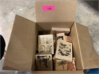 LARGE BOX OF CRAFT STAMPS