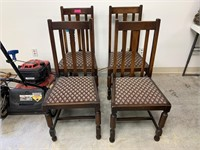 4 PC CTG WOOD DINING CHAIRS