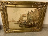 F. VAN VREELAND FRAMED WATERCOLOR BOARD