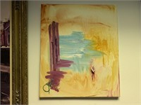 ORIGINAL ABSTRACT ON CANVAS JD MILLER
