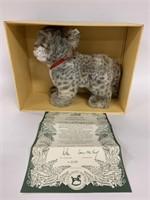 Steiff Snow Leopard Cub in box