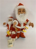 2 Steiff Santa's and 2 small bears