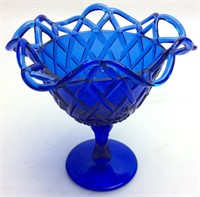 FENTON COBALT BLUE COMPOTE