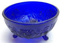 IMPERIAL ROSE COBALT BLUE BOWL