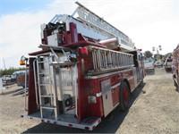(DMV) 1986 Spartan FA20-2142 75' Quint Fire Truck