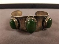 Sterling Silver Sassen Modernist cuff bracelet