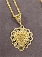 14k Gold Heart pendant and chain