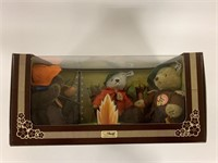 Steiff three bears campfire in box